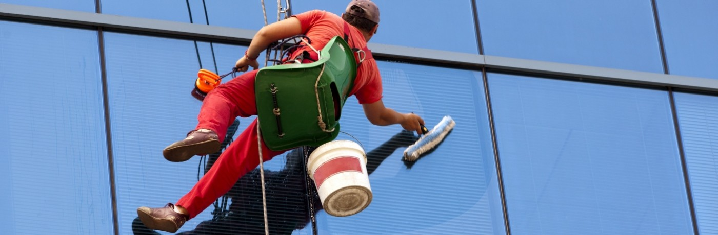 Commercial window cleaning and high rise windows